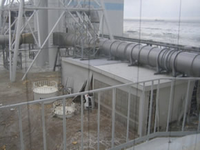 Photo 3. Tsunami that hit the Fukushima Daiichi Nuclear Power Station